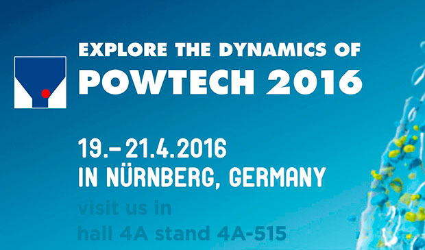 POWTECH 2016 Feria para el procesamiento y manipulación de polvo