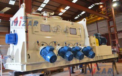 Mezcladora de eje horizontal MIZAR MH4500U – Italia
